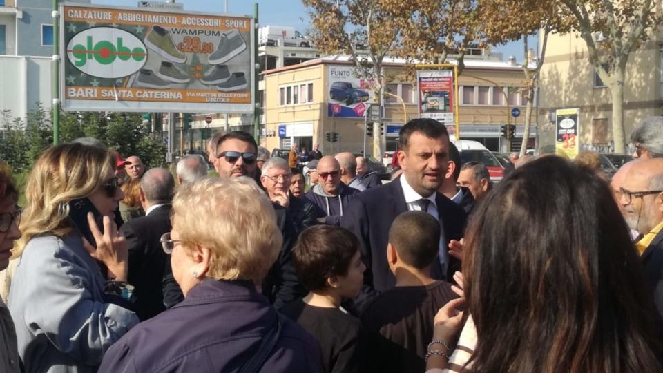 Mercato S. Chiara via Pitagora (inizio lavori)