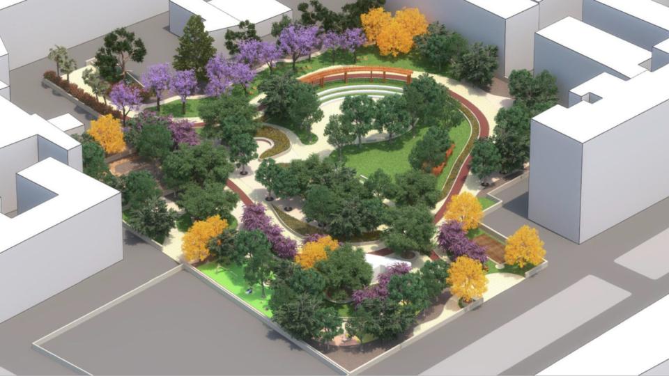 Parco Maria Maugeri (progetto, vista dall'alto)