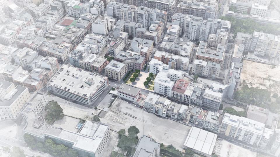 Piazza Disfida di Barletta (dall'alto)
