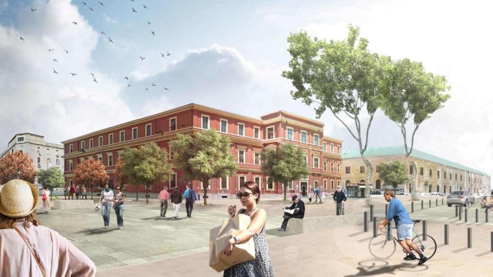 Piazza Redentore Bari (laterale, come sarà)
