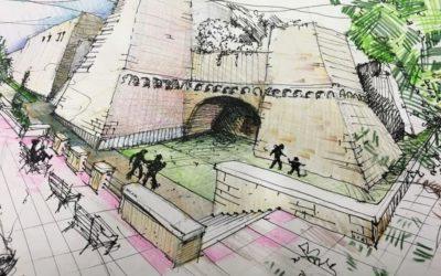 Castello normanno-svevo: accesso al fossato