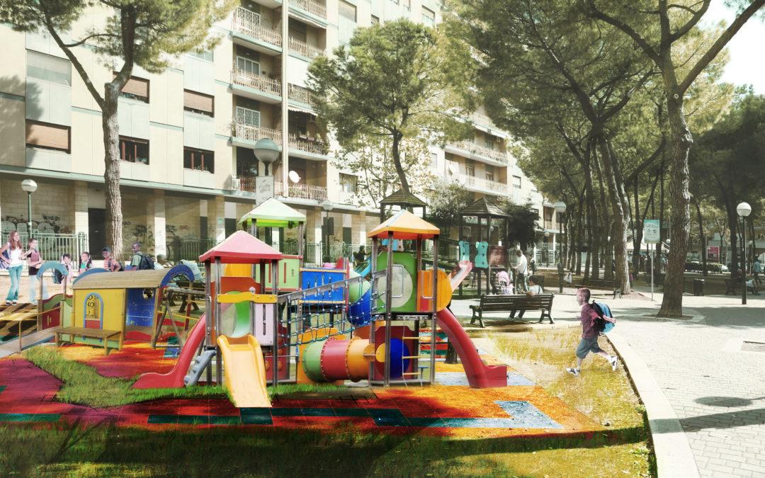 Riqualificazione giardini Chiara Lubich (playground)